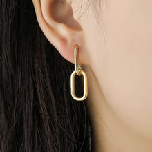 Load image into Gallery viewer, Oval Link Hoop Earrings