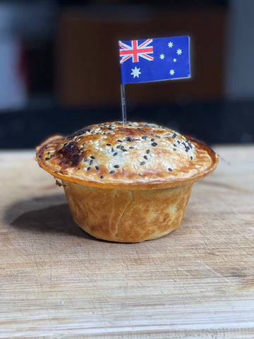 The homemade Aussie meat pie is perfect for Australia Day, parties or just for a meal.