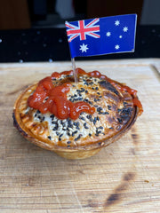 The questions is. To sauce or not to sauce on a meat pie?
