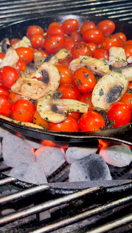 charcoal grilled baked feta pasta
