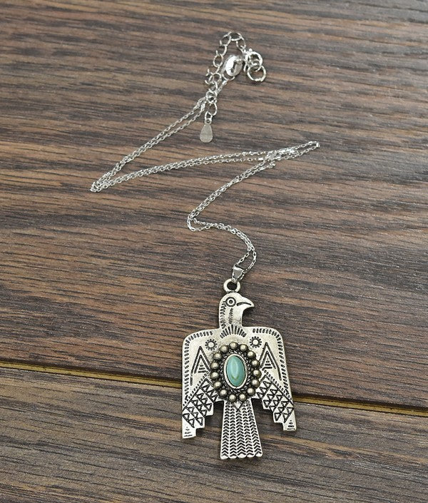 Thunderbird Pendant Necklace
