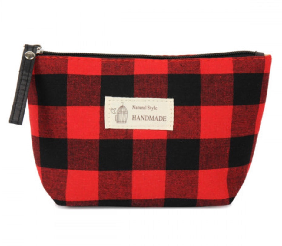 Small Red/Black Buffalo Check Bag