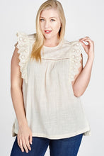 Load image into Gallery viewer, Ivory Lace Sleeveless Top