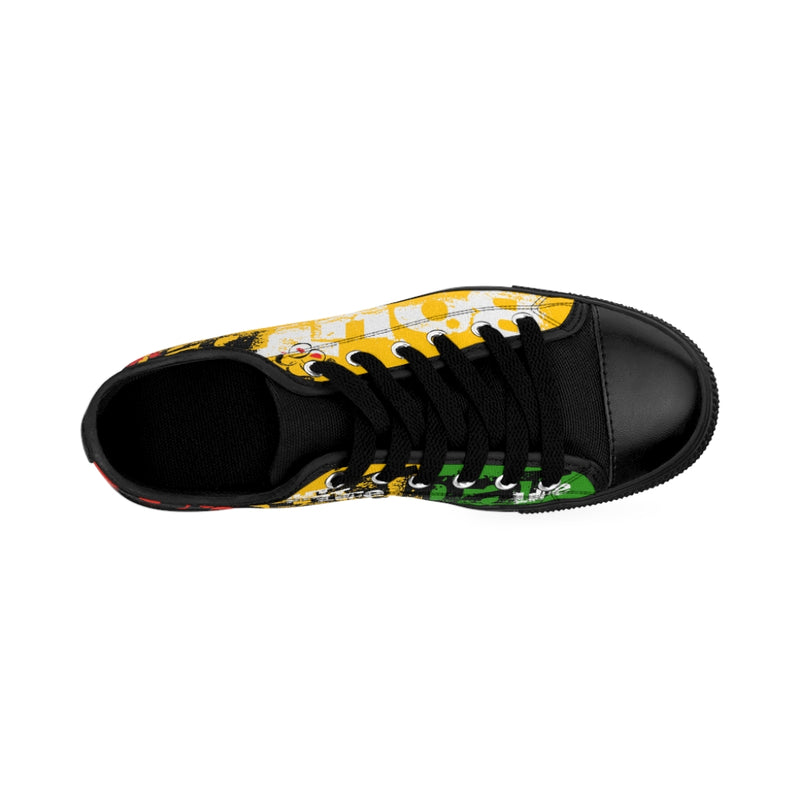Yellow Signature Logo Men's Sneakers
