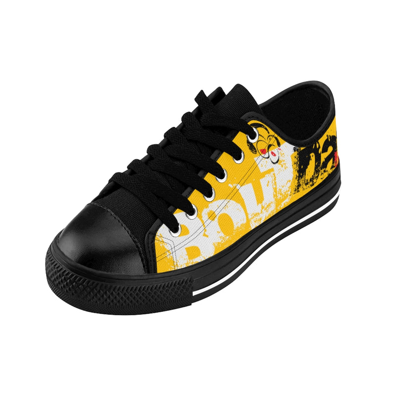 Yellow Signature Logo Women's Sneakers
