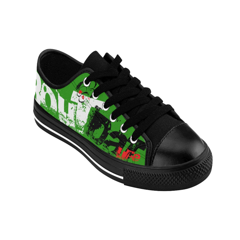 Green Signature Logo Women's Sneakers