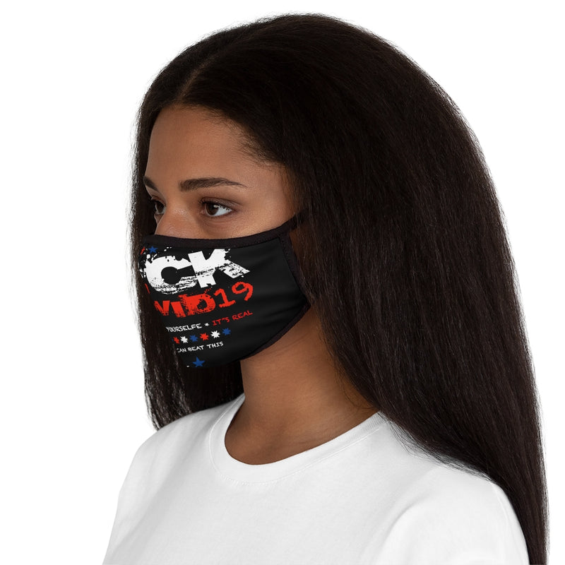F*CK Covid19 Fitted Polyester Face Mask