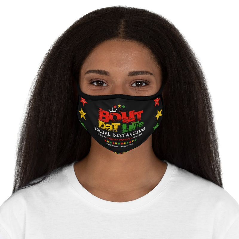 Social Distancing Fitted Polyester Face Mask