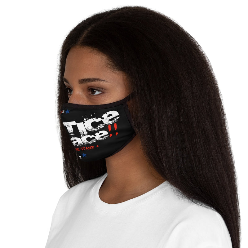 No Justice No Peace United We Stand Fitted Polyester Face Mask
