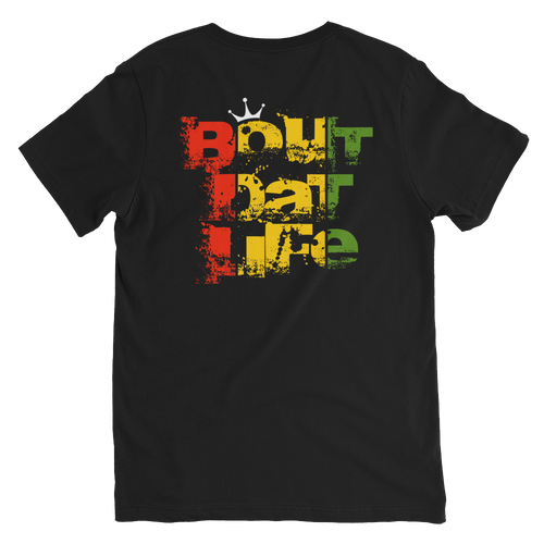 Rasta Ganja Gangsta V-Neck T-Shirt for Him