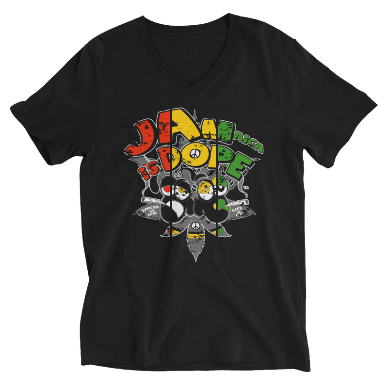 Rasta Jamaica Is Dope V-Neck T-Shirt for Him