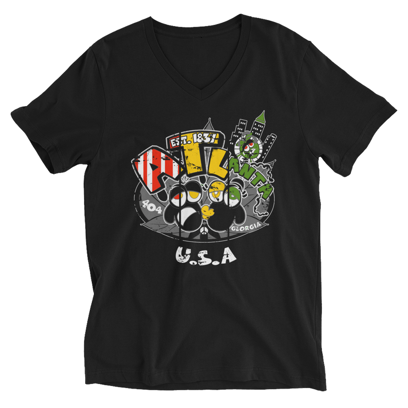 Rasta Atlanta USA V-Neck T-Shirt for Him