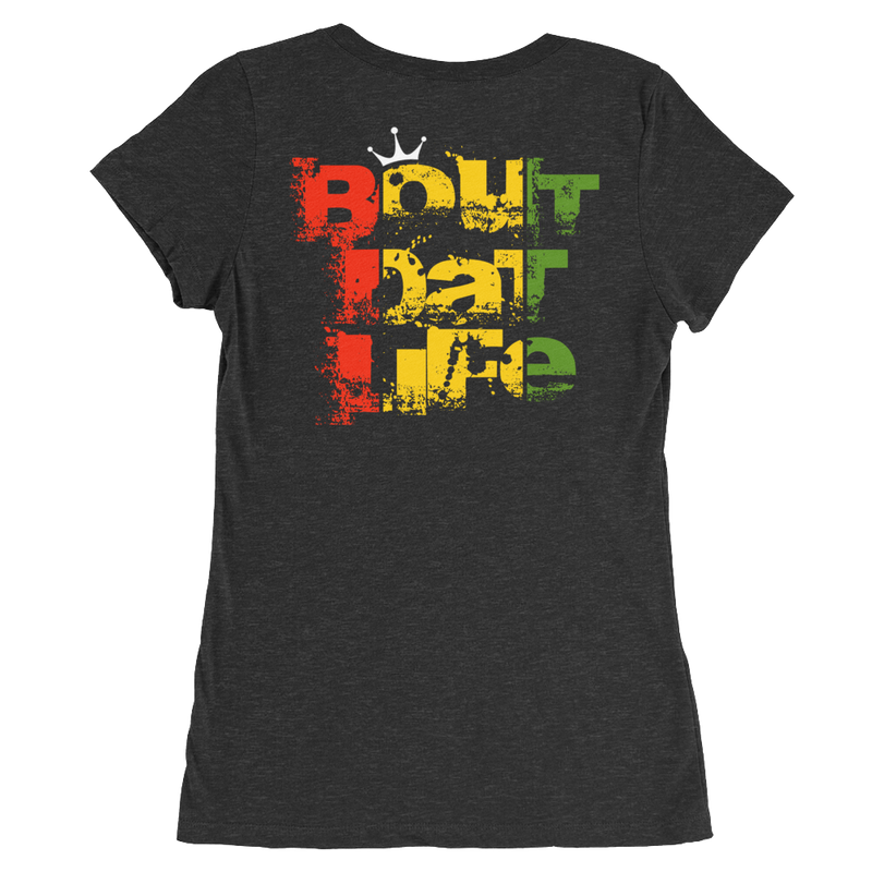 Rasta Jamaica Is iRie So Roll One T-Shirt for Her
