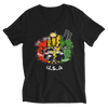 Rasta Miami USA V-Neck T-Shirt for Him