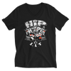 White Hip Hype Lit Short V-Neck T-Shirt for Him