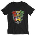 Rasta Roots Rock Reggae V-Neck T-Shirt for Him
