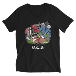 Reggae Seattle USA V-Neck T-Shirt for Him