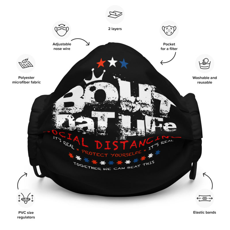 Social Distancing Premium Face Mask