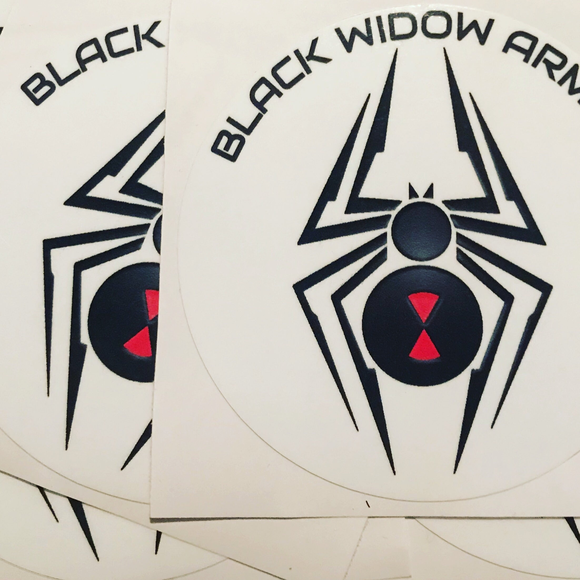 Black Widow Armor Decal Stickers 2 Pack