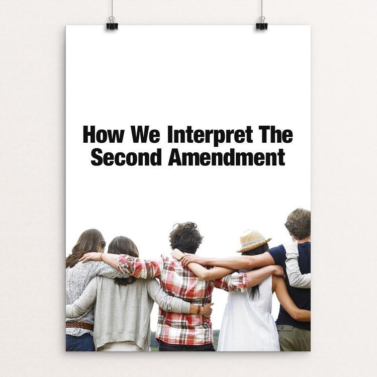 "2nd Amendment by Debbie Millman 12"" by 16"" Print / Unframed Print The Gun Show"