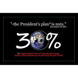 "30 Percent by Bob Rubin 18"" by 12"" Print / Unframed Print Climate Victory"