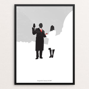 "44: Inauguration by Matt Brass 12"" by 16"" Print / Framed Print Design For Obama"