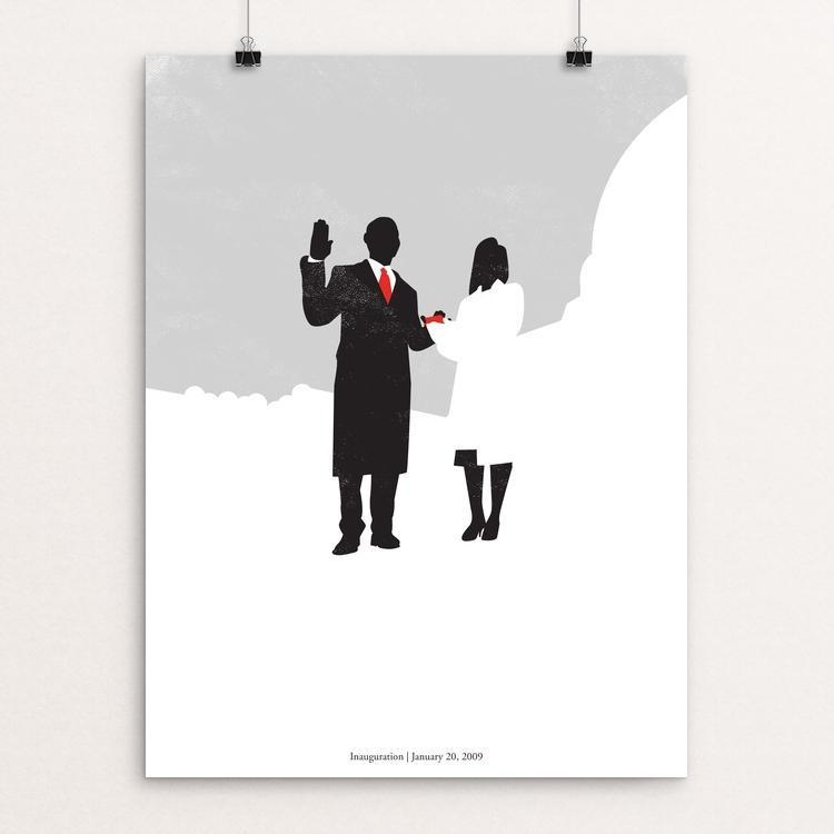 "44: Inauguration by Matt Brass 12"" by 16"" Print / Unframed Print Design For Obama"
