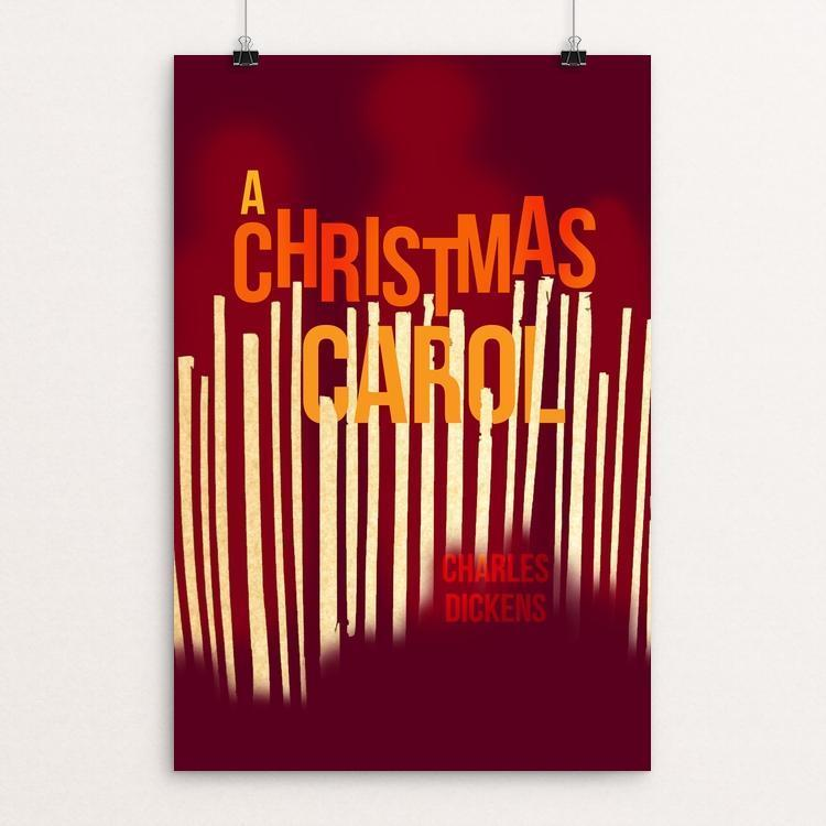 "A Christmas Carol by Lauren Wagner 12"" by 18"" Print / Unframed Print Recovering the Classics"