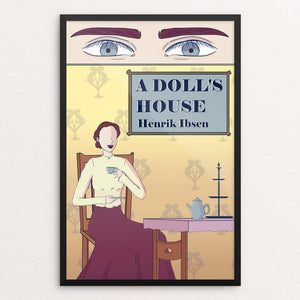 "A Doll's House by Mariana Solares 12"" by 18"" Print / Framed Print Recovering the Classics"