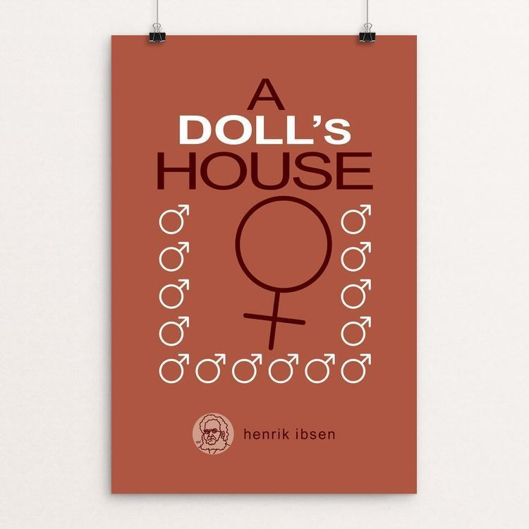 "A Doll's House by Robert Wallman 12"" by 18"" Print / Unframed Print Recovering the Classics"