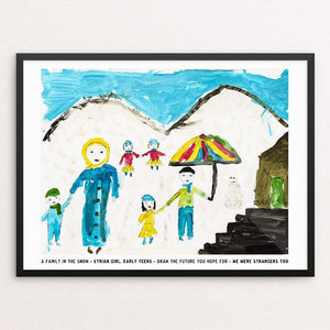 "A Family in the Snow by David Gross 12"" by 16"" Print / Framed Print We Were Strangers Too"