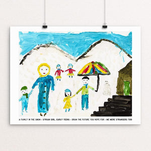 "A Family in the Snow by David Gross 12"" by 16"" Print / Unframed Print We Were Strangers Too"