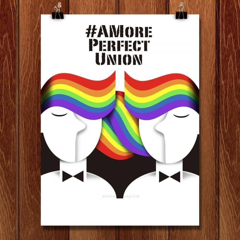 "A More PERFECT UNION by Elena Ospina 18"" by 24"" Print / Unframed Print A More Perfect Union"