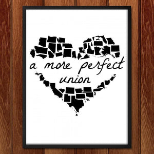 "A More Perfect Union by Lana Limón 18"" by 24"" Print / Framed Print A More Perfect Union"