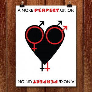 A More Perfect Union Heart by Bradley Abner