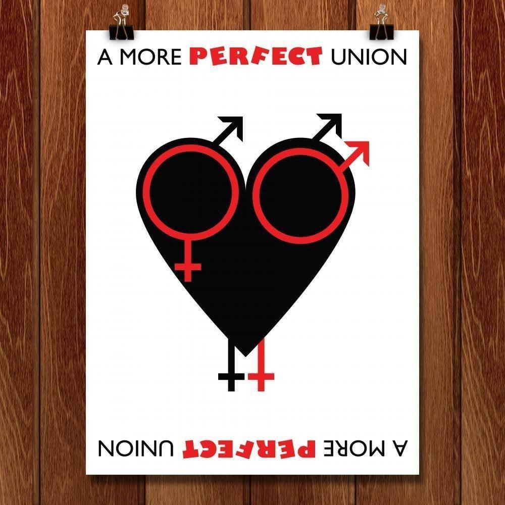 "A More Perfect Union Heart by Bradley Abner 18"" by 24"" Print / Unframed Print A More Perfect Union"