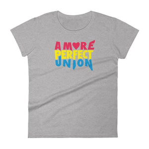A More Perfect Union Women's T-Shirt by Design by Goats S / Heather Grey T-Shirt A More Perfect Union