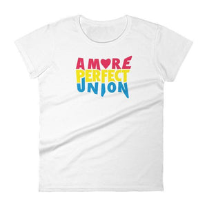 A More Perfect Union Women's T-Shirt by Design by Goats