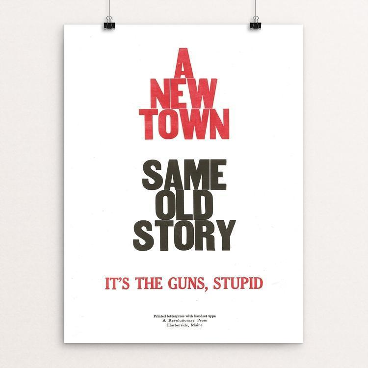 "A New Town by John Vincent 12"" by 16"" Print / Unframed Print The Gun Show"