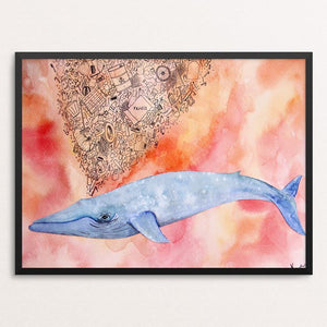 "A Plastic Ocean by Nur Art 12"" by 16"" Print / Framed Print Creative Action Network"