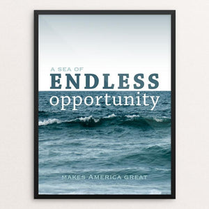 "A Sea of Endless Opportunity by Marissa Molitor 12"" by 16"" Print / Framed Print What Makes America Great"