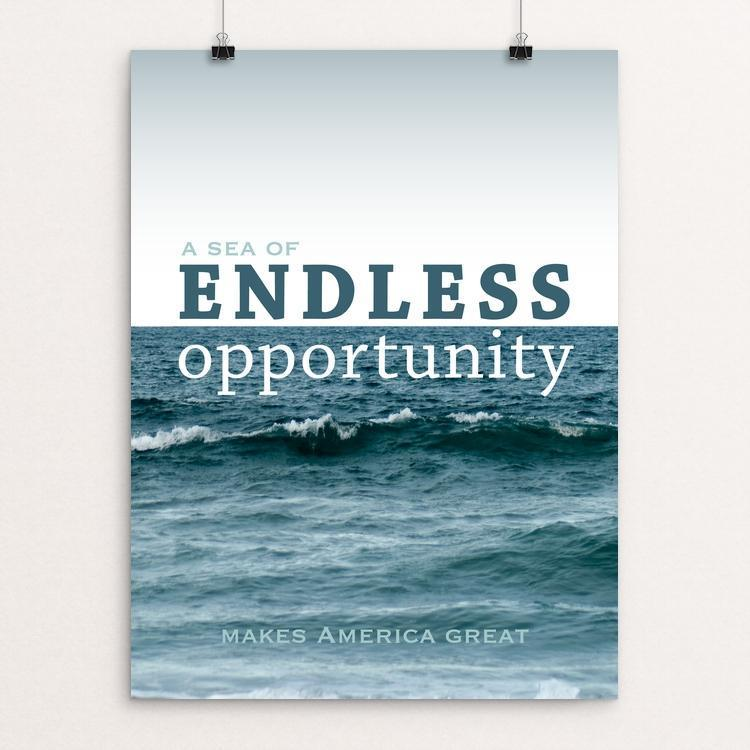 "A Sea of Endless Opportunity by Marissa Molitor 12"" by 16"" Print / Unframed Print What Makes America Great"