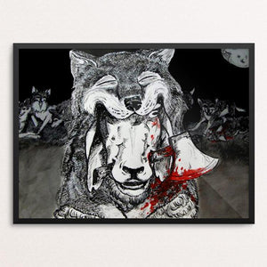 "A Sheep in Wolves Clothing by Jessica Till 18"" by 24"" Print / Framed Print Join the Pack"