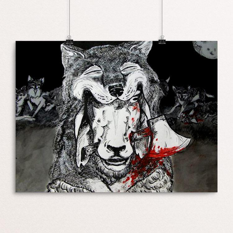 "A Sheep in Wolves Clothing by Jessica Till 18"" by 24"" Print / Unframed Print Join the Pack"