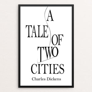 "A Tale of Two Cities by Jennifer Davis 12"" by 18"" Print / Framed Print Recovering the Classics"