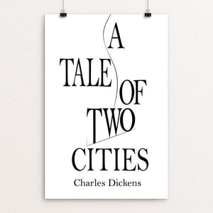 "A Tale of Two Cities by Jennifer Davis 12"" by 18"" Print / Unframed Print Recovering the Classics"