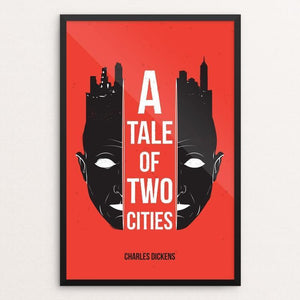 "A Tale of Two Cities by Roberlan Borges 12"" by 18"" Print / Framed Print Recovering the Classics"