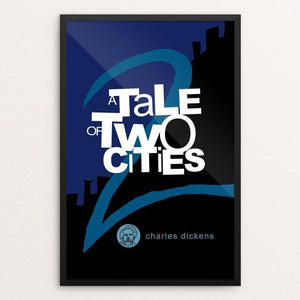 "A Tale of Two Cities by Robert Wallman 12"" by 18"" Print / Framed Print Recovering the Classics"