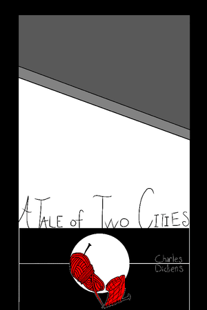 "A Tale of Two Cities by Zoe Jacks 12"" by 18"" Print / Unframed Print Recovering the Classics"