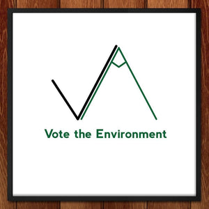 "A Vote for the Environment by Nicholas Hagar 12"" by 12"" Print / Framed Print Vote the Environment"